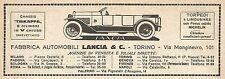 W9151 Fabbrica Automobili LANCIA & C. - Pubblicità del 1923 - Vintage advert