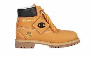"""Timberland 6"""" Shearling Fur x Champion Wheat Boot TB0A1UCU231 Size 5"""
