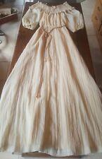 Vintage The Dress Cream lined off shoulder70s Wedding Maxi Hippie Boho