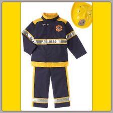 NWT 7-8 GYMBOREE FIREMAN FIREFIGHTERS Costume 3pc HARD HAT JACKET PANTS . .RARE!