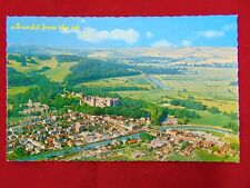 Vintage Original Arundel, England From The Air Uncirculated Postcard