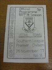 26/11/1977 dover V Yeovil Town. bobfrankandelvis [Tutina progs] vendere l'oggetto