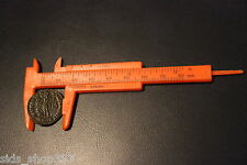"Mini Plastic Caliper, 3""- Measuring Tool, Inches, MM, Inside, Outside >80mm"