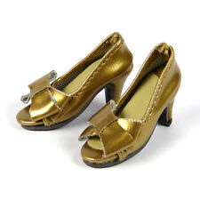 1/6 Cy Girl, ZC Girl, Kumik, TTL, & Nouveau Toys Female Gold Ribbon Heel Shoes