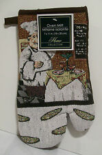 """Fat Chef """"SERVING PIZZA"""" Kitchen OVEN MITT New! with Tag KITCHEN ACCESSORY"""