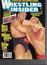1987 Official Wrestling Insider Magazine Volume 1 #2, No Label Mint