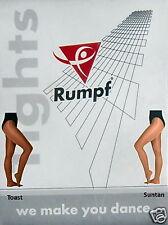 Rumpf Brillo Medias, Tostadas/bronceado, todas las tallas. moderno/tap/Jazz