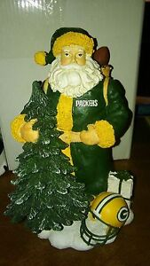 NIB Green Bay Packers Santa NFL First in a Limited SeriesMemory Company