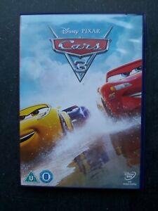 DISNEY PIXAR CARS 3 DVD -  UK.   FAST/FREE POSTING