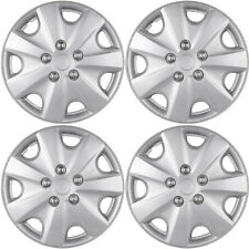 "4 PC Hubcaps Fits 76-14 Honda Accord 15"" Silver ABS Replacement Wheel Rim Cover"