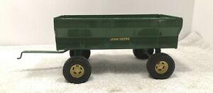 John Deere Grain Wagon Trailer 1/16 Very Clean ERTL  Green Yellow Wheel