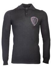 Richmond Denim Men`s Polo Sweater Size 50 100% Virgin Wool