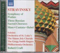 Strawinsky: Symphonie Der Psalmen / Robert Craft, London Symphony Orchestra - CD