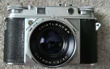 Voigtlander Prominent 35mm Rangefinder Film Camera Ultron 1:2/50 Lens