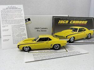 1/24 Danbury Mint 1969 Chevrolet Camaro Pro Street Yellow AWESOME