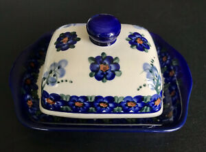 Vintage Butter Dish Ceramic Signed By The Artist