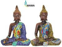 Buddha Figura Decorativa Statua Indiano Scultura Asia Buddismo Feng Shui H34cm
