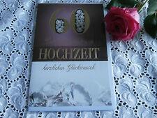 Elegante Glückwunschkarte DIAMANT Hochzeit 60  Diamanten Gold