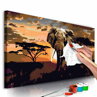 Malen nach Zahlen Erwachsene Wandbild 80x40 cm Malvorlagen Vintage n-A-0316-d-a