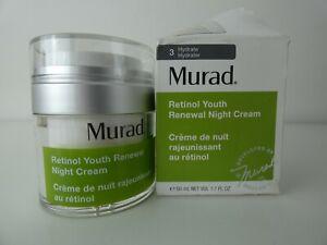 New MURAD Retinol Youth Renewal Night Cream 50ml -Damaged Box