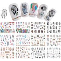 Traumfänger Feder Nagel Wasser Aufkleber Eule Maniküre Nail Art Transfer Sticker