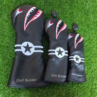 Golf Builder Shark Driver Wood Headcover FW Fairway Hybrid Cover for Callaway