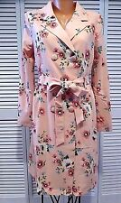 Profound PIzzazz Trench Coat in Carnation Pink Floral Print Sz M Great Deal Read