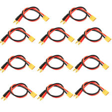 10pcs 300mm XT60 Male to 4mm Banana Plug Adapter Battery Charge 14AWG Cable Lead