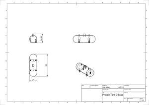 O Scale Model Railroad Scenery Residential Propane Tank White