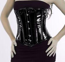 High Quality Under bust corset corsage PVC Black 34 ~ 56