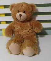 BUILD A BEAR TEDDY BEAR  BROWN FLUFFY 40CM! TOY BAB STRAIGHT MOUTH
