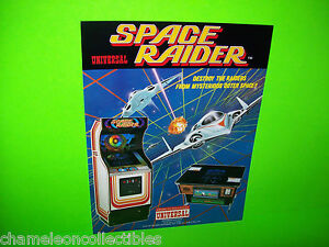 SPACE RAIDER By UNIVERSAL 1982 ORIGINAL NOS RARE VIDEO ARCADE GAME SALES FLYER