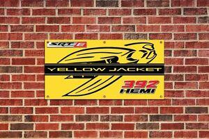 Dodge Challenger Yellow Jacket Garage Shop Banner Tribute 2