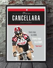 Fabian cancellara a4 cycling poster. Specially created