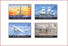 SHE0803 Transport, airplanes and ships 4 stamps