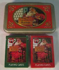 coca cola play cards nostalgia 1998, come nuove! natale
