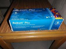 Aurelia Robust plus blue nitrile gloves-100 count- size small