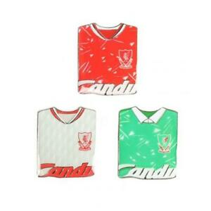 LIVERPOOL FC 3 PACK CANDY KIT RETRO BADGE SET - OFFICIAL FOOTBALL GIFT