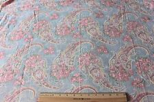 """Antique c1920 Faded Shabby Roses Paisley Cotton Fabric Textile~Quilters~2yds4""""L*"""