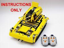 LEGO Technic 8043 custom building instruction. Tank
