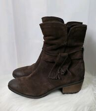Josef Seibel Daphne Brown Ankle Boots W/ Fringe Womens Size 37 US size 6/ 6.5