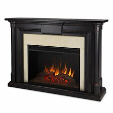 Real Flame Maxwell Grand Electric Fireplace- Blackwash - 8030E-BW NEW