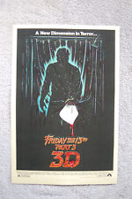 Friday the 13th Part  Lobby Card Movie Poster