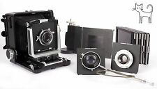 Wista 45N 4X5 field camera three lenses 105mm 180mm 210mm holders+roll film back