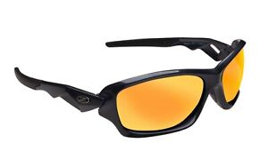 RayZor Uv400 Sports Wrap Sunglasses Gun Metal Grey Red Mirrored Lens RRP£49 (571