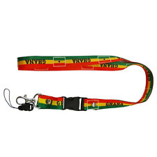 GHANA COUNTRY FLAG LANYARD KEYCHAIN PASSHOLDER .. NEW