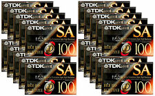 20x TDK SA 100 Audio Cassette Tape Super Avilyn High Resolution SA100 BIAS IECII