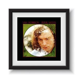 """Van Morrison - Astral Weeks   12"""" Album Cover - Framed 16"""" x 16"""""""