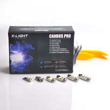 14x white for SEAT LEON 1M 1M1 Cupra 4 R FR ST Error Free LED Interior Light Kit