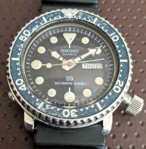 Vintage Seiko Quartz Tuna Diver's 300M 7549-7010 Watch w/ Rare Arabic Day AS-IS